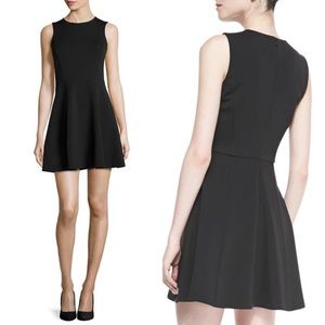 Theory Tillora Techno-Jersey Flared Dress Mini